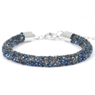 Crystal diamond armbanden 7mm Crystal-metallic blue