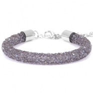Crystal diamond armbanden 8mm Purple velvet