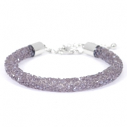Crystal diamond armbanden 7mm Purple velvet