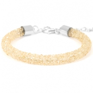 Crystal diamond armbanden 7mm Bisque beige