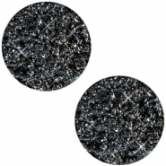12 mm platte cabochon Polaris Elements Goldstein Black