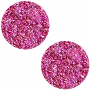 12 mm platte cabochon Polaris Elements Goldstein Fuchsia