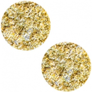 12 mm platte cabochon Polaris Elements Goldstein Sunflower yellow