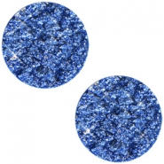 12 mm platte cabochon Polaris Elements Goldstein Cobalt sapphire blue