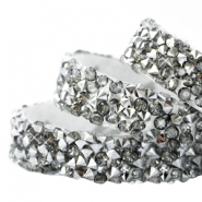 Crystal diamond tape 10mm Greige-silver