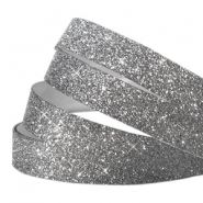 Crystal glitter tape 10mm Antraciet