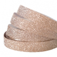 Crystal glitter tape 10mm Light rosegold