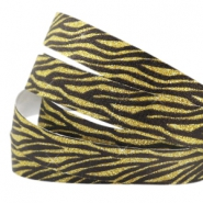 Crystal glitter tape animal print 5mm Black-gold
