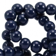 6 mm glaskralen opaque Midnight blue
