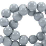 8 mm glaskralen opaque Cool grey