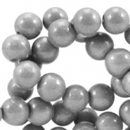 4 mm glaskralen opaque Metallic grey