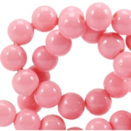 8 mm glaskralen opaque Rouge pink