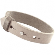 Cuoio armbanden leer 15 mm voor 20 mm cabochon Country grey