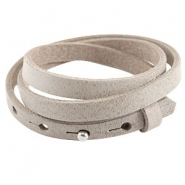 Cuoio armbanden leer triple 8 mm voor 12 mm cabochon Dark Country grey