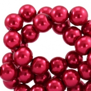 Glasparels 12mm Aubergine red
