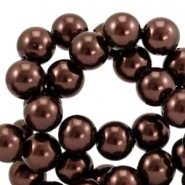 Glasparels 12mm Dark brown