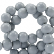 8 mm glaskralen half mat Cool grey