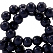 4 mm glaskralen half mat Midnight blue