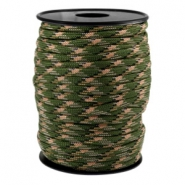 Trendy koord Paracord 4mm Army green-beige zwart