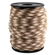 Trendy koord Paracord 4mm Beige-dark brown