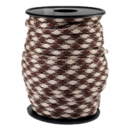 Trendy koord Paracord 4mm Beige-warm brown