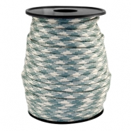 Trendy koord Paracord 4mm Beige-turmaline green