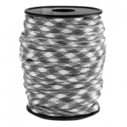 Trendy koord Paracord 4mm Grijs-wit