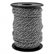 Trendy koord Paracord 4mm Zwart-wit