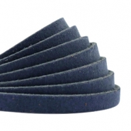 DQ leer plat 5mm Dark denim blue
