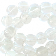 8 mm glaskralen transparant gemêleerd Chrystal light greige