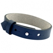 Cuoio armbanden leer 15mm voor 20mm cabochon Crown blue