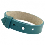 Cuoio armbanden leer 15mm voor 20mm cabochon Night tide green