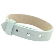Cuoio armbanden leer 15mm voor 20mm cabochon Soft sky blue