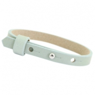 Cuoio armbanden leer 8mm voor 12 mm cabochon Soft sky blue