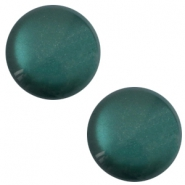 12 mm classic cabochon Polaris Elements soft tone shiny Deep lake teal blue