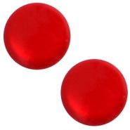 12 mm classic cabochon Polaris Elements soft tone shiny Scarlet red