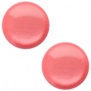12 mm classic cabochon Polaris Elements soft tone shiny Peachy coral pink