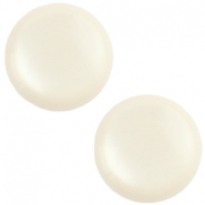 12 mm classic cabochon Polaris Elements soft tone shiny Off white