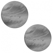 7 mm platte cabochon Polaris Elements Mosso shiny Silver night