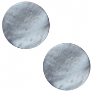 12 mm platte cabochon Polaris Elements Mosso shiny Rustic blue