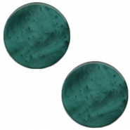 20 mm platte cabochon Polaris Elements Mosso shiny Deep lake teal blue