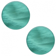 7 mm platte cabochon Polaris Elements Mosso shiny Lagoon green