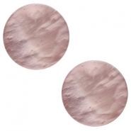 7 mm platte cabochon Polaris Elements Mosso shiny Taupe brown