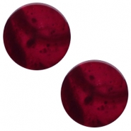 20 mm platte cabochon Polaris Elements Mosso shiny Royale aubergine