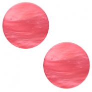 12 mm platte cabochon Polaris Elements Mosso shiny Peachy coral pink