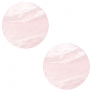 20 mm platte cabochon Polaris Elements Mosso shiny Soft light rose
