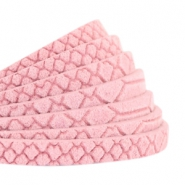 Plat 5mm DQ leer Reptile Candy pink