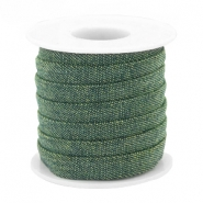 Trendy plat koord denim 10mm Dark green