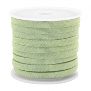 Trendy plat koord denim 5mm Light green