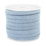 Trendy plat koord denim 5mm Light blue